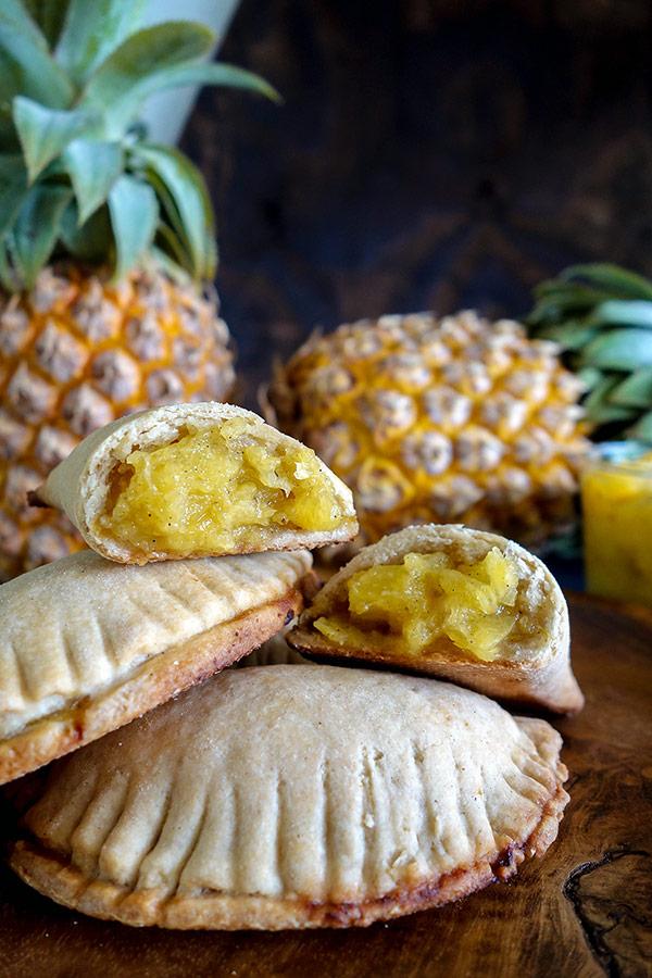 Paï ou chausson à l'ananas (vegan et sans gluten).