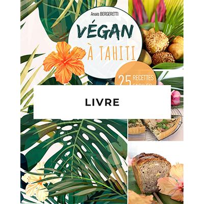 Vegan à Tahiti, 25 recettes faciles est un livre de cuisine qui permet de découvrir la cuisine végétale à travers des recettes de base faciles et savoureuses revisitées avec des produits tropicaux courants.