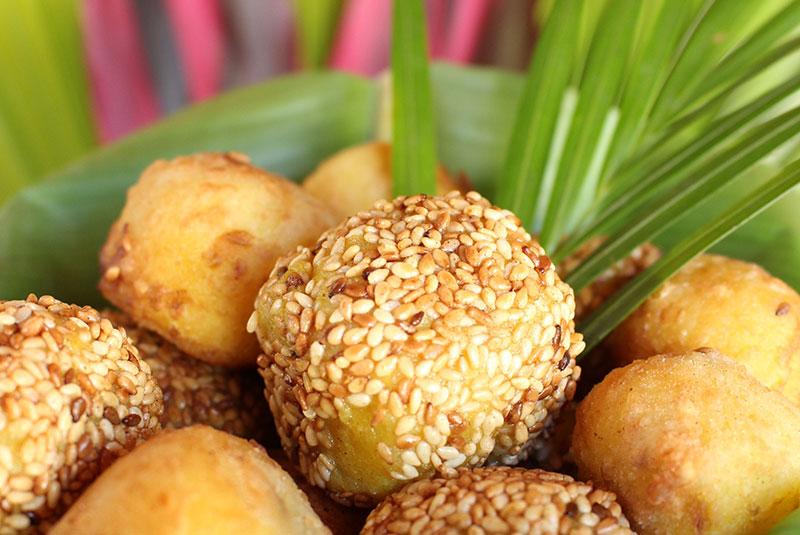 Croquettes de bananes fei plantain (recette végétarienne, vegan).