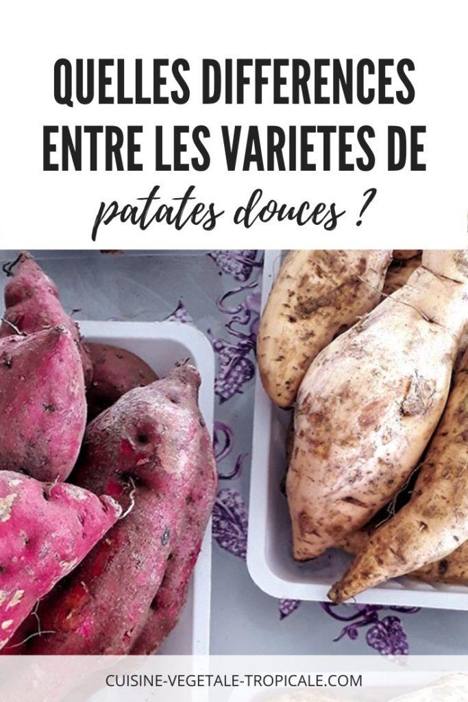 Article pour savoir quelles sont les différences entre les variétés de patates douces.