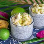 Recette de pudding de graines de chia au corossol.
