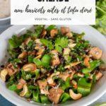 Recette de salade croquante aux haricots ailés et tofu doré (vegan, ig bas, sans gluten)