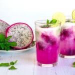 Recette de l'eau aromatisée au pitaya et ramboutan.