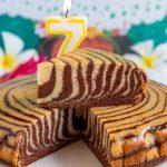 Recette du zebra cake vegan et sans gluten.